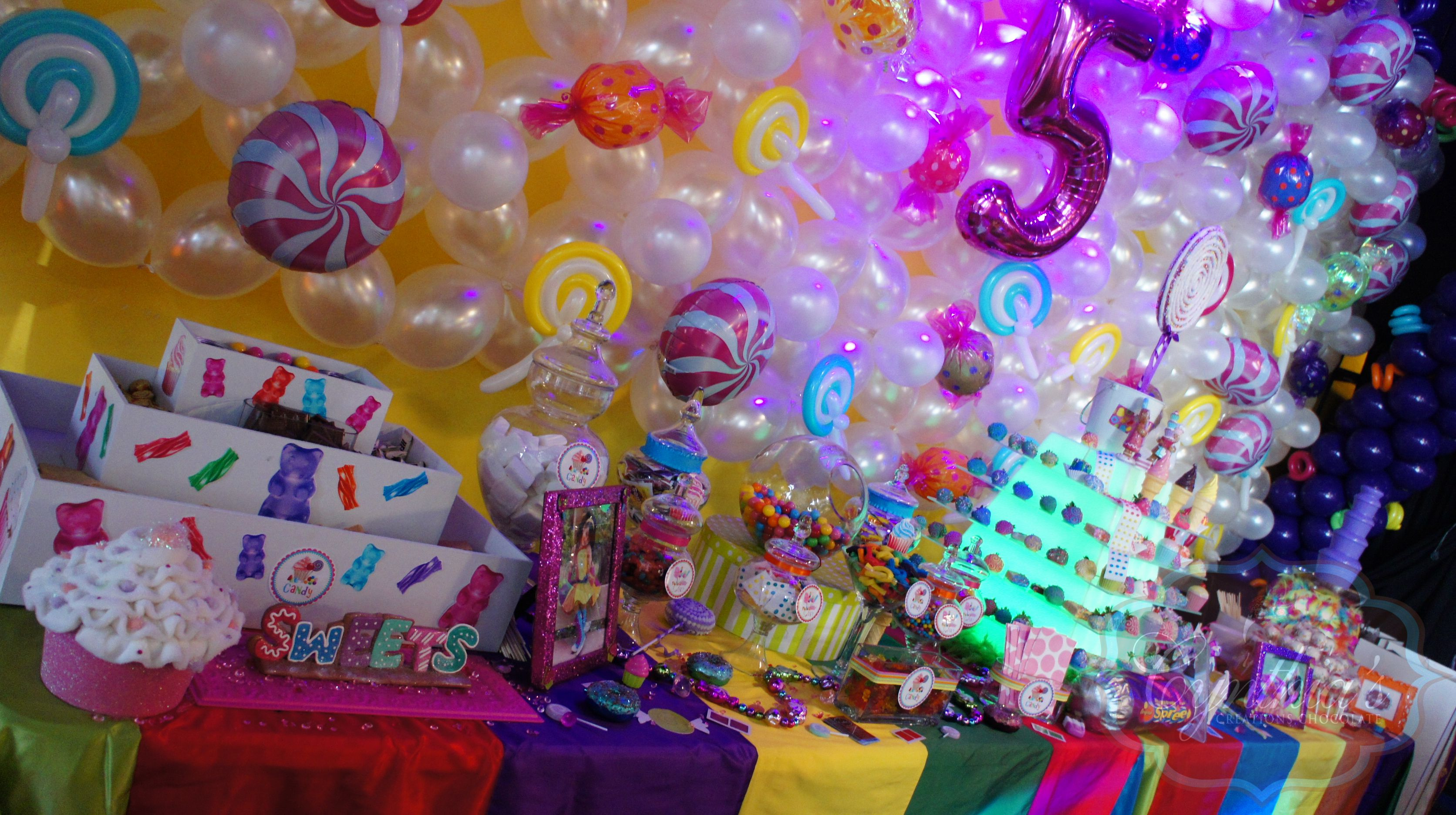 Candyland Theme Party S Mores Bar Candy Buffet Pyramid With