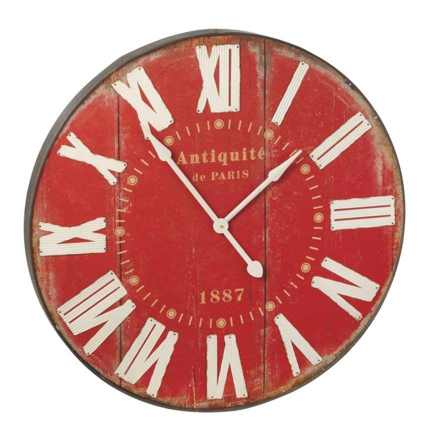 Big Red Wall Clock Red Wall Clock Clock Wall Decor Wall Clock