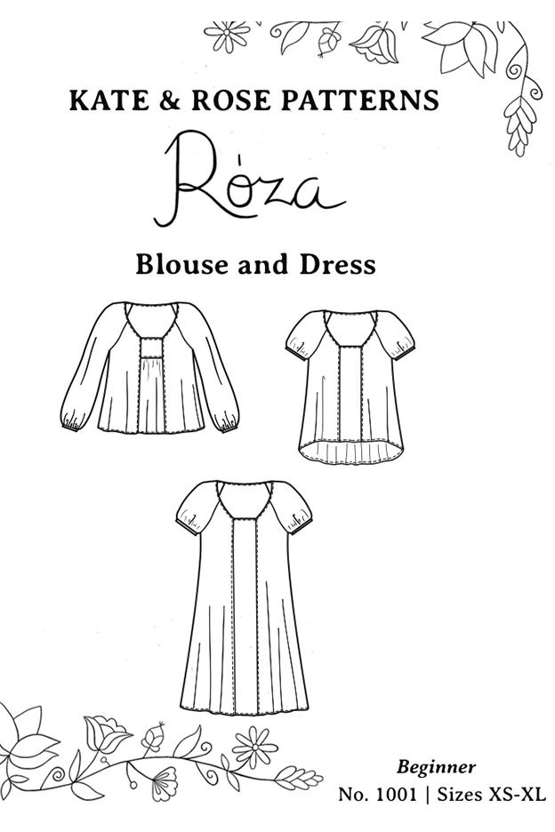 Roza by Kate & Rose Pattern Preview 1 | Indiesew.com