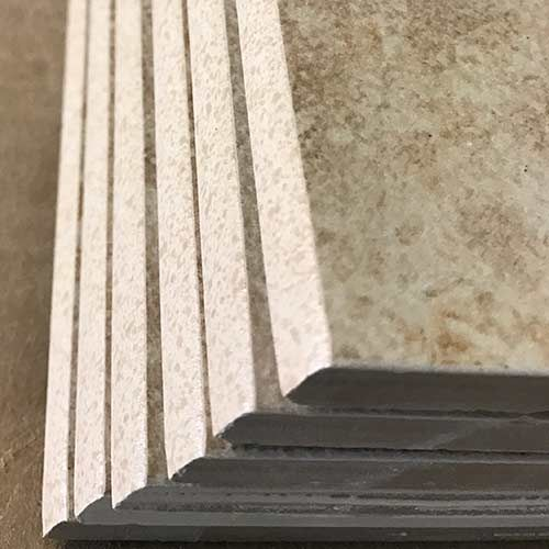 Image Of Speckled Glaze On Bullnose Trim Pieces
