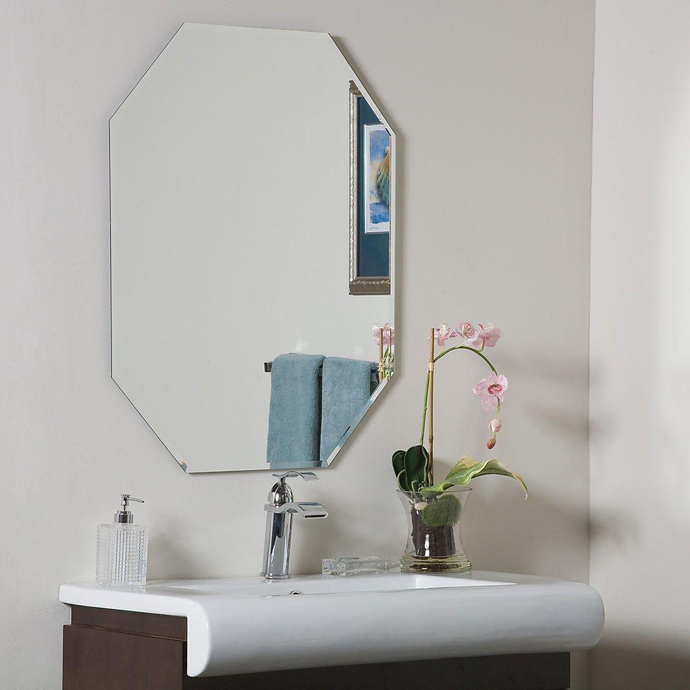 Frameless Octagon Bevel Mirror Hall Bathroom Designer | Hall ...
