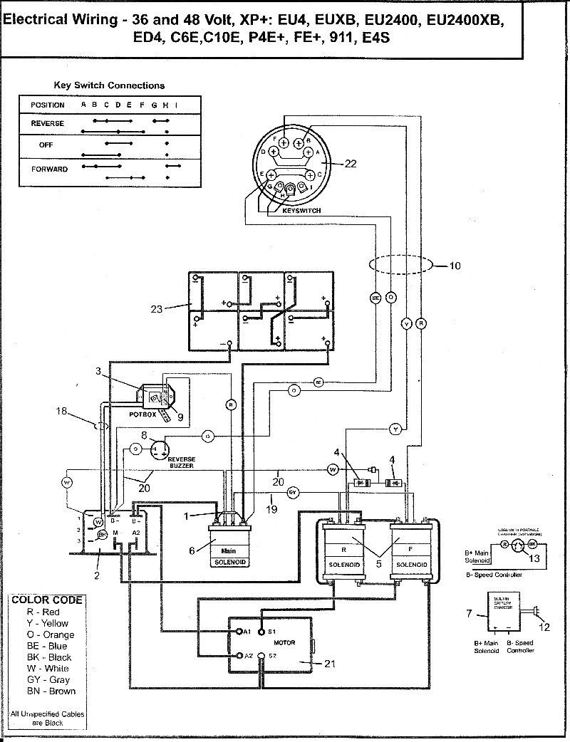 Club Car Battery Wiring Diagram 48 Volt In 2020