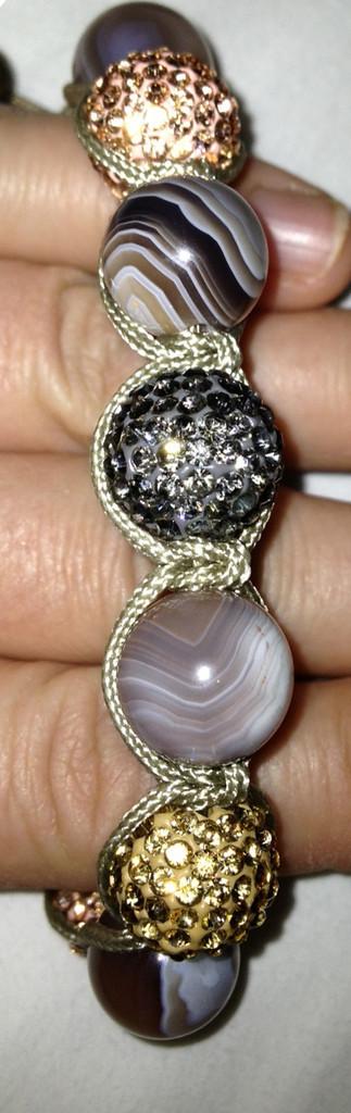 Botswana Silk Shamballa Bracelet (Customer Design) - Lima Beads