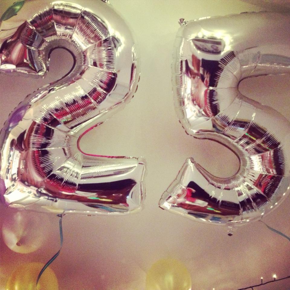 25 Ans Home Ballons D 1 Metre Gonfles A L Helium Decor D Anniversaire 25 Ans Anniversaire