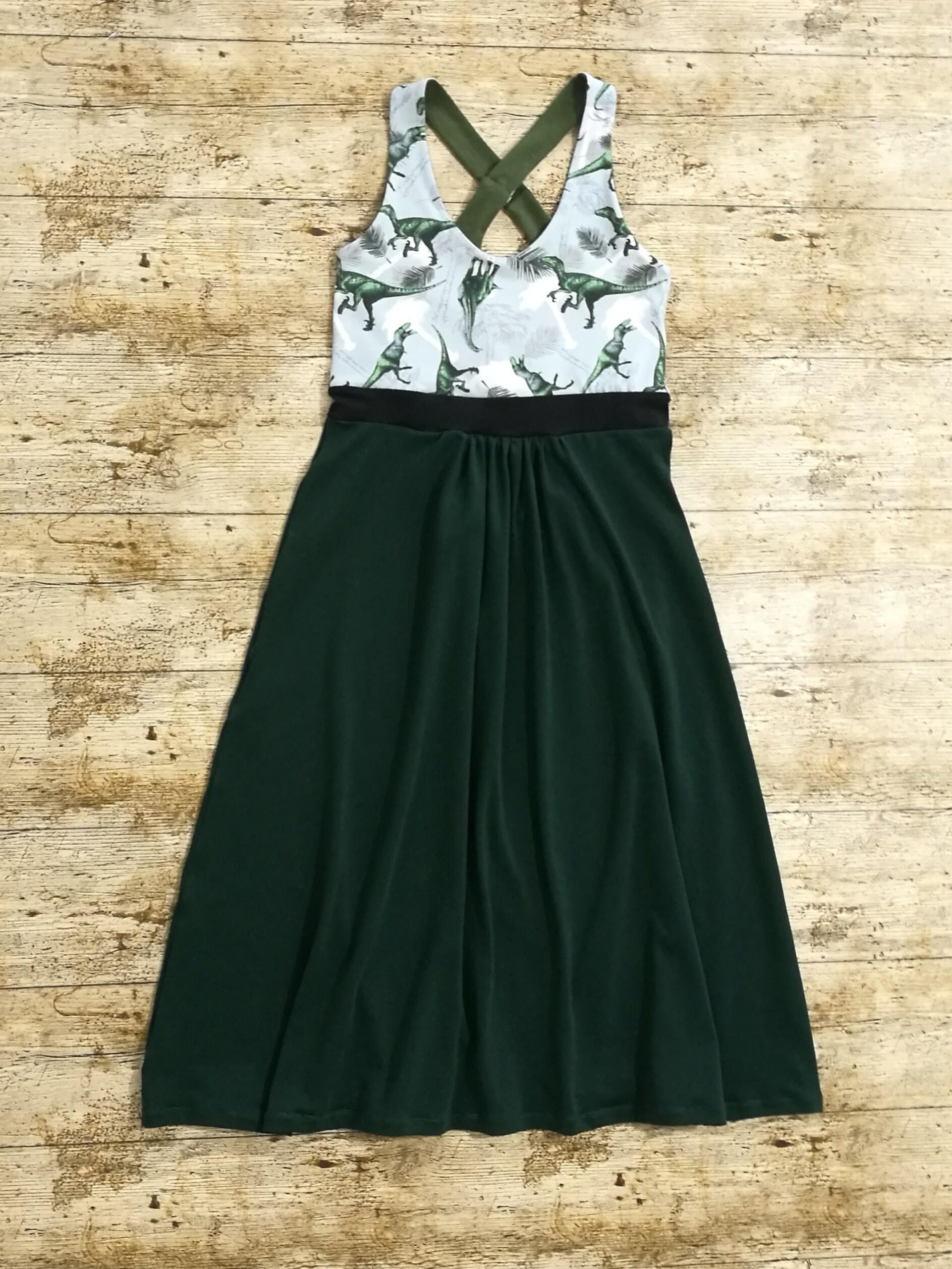 b5016989616e0 Dress with built in bra support, 'The Crush' dress with hidden support,  women's dinosaur dress, fun dress for women, dino print brazi dress by  LovedGarms on ...