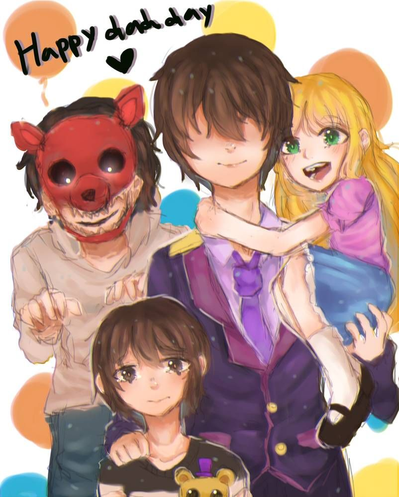 Happy Dad Day Family Afton By Shikuromay Fnaf Drawings Anime Fnaf Fnaf