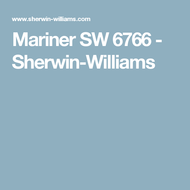Mariner SW 6766 - Sherwin-Williams