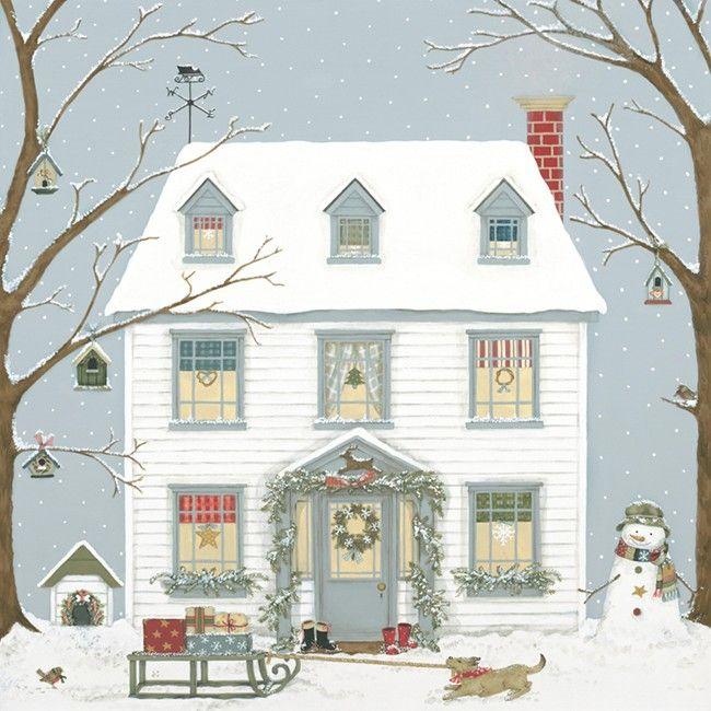 Prints & Canvasses » Christmas House Giclée Print ...