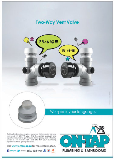 We speak your language. Two Way Vent Valve! plumbing