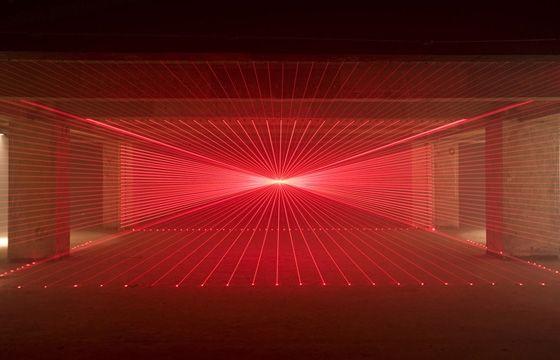 Matthew Schreiber, In The Vein Of Another Fantastic Light And Installation  Artist James Turrell, Creates Brilliant, Immersive Site Specific Laser, Flu.