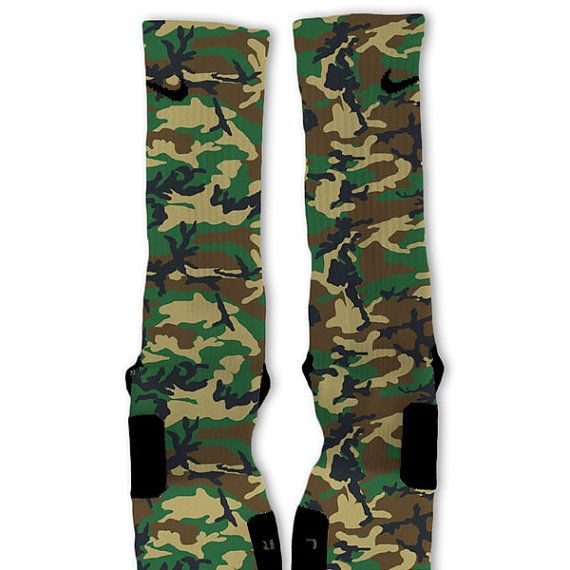 camo fast shipping nike elite socks customized