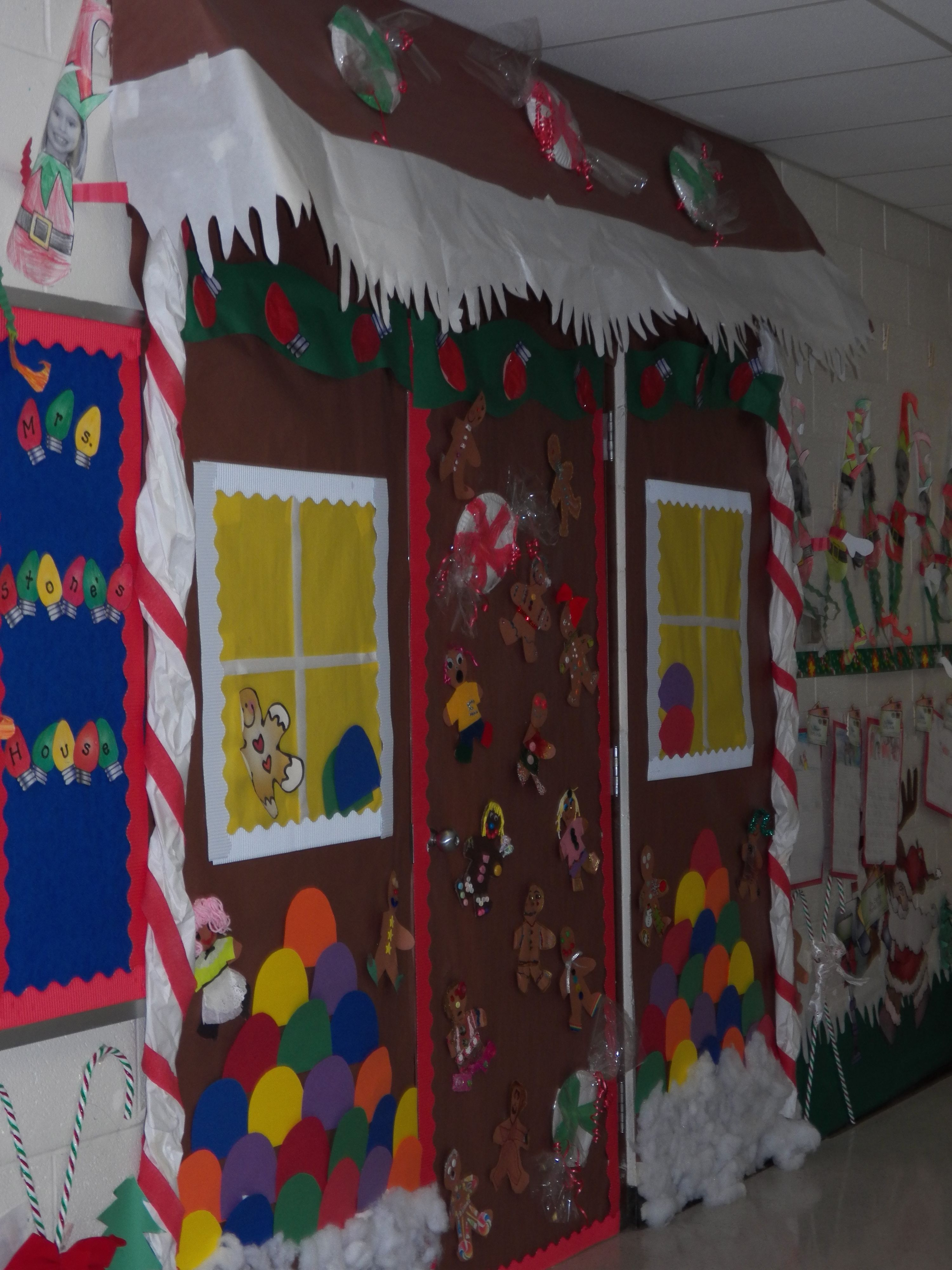My Version of the Gingerbread House For Your Class Door