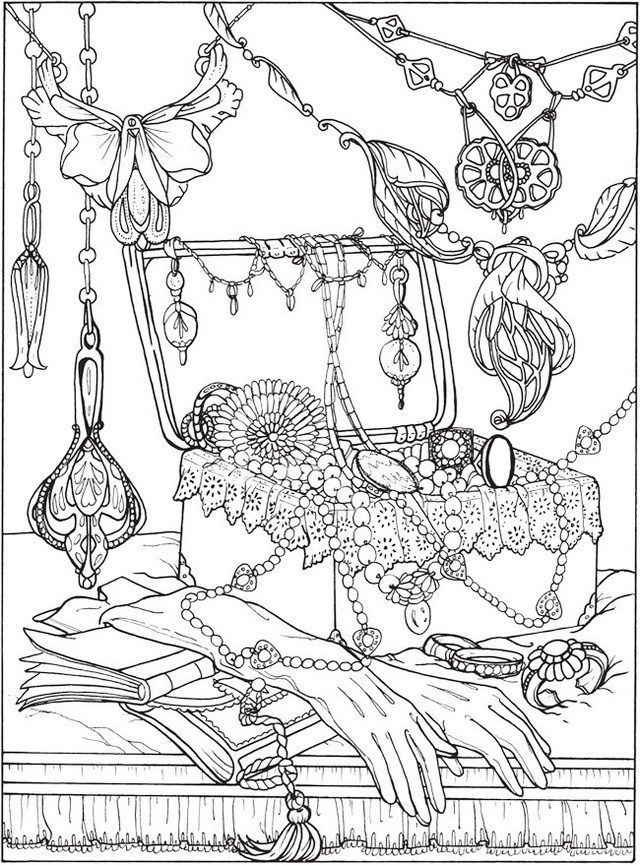 Pin On Jewelry Coloring Page