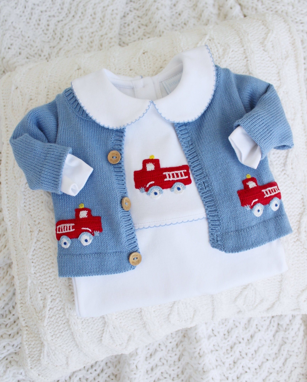 Fire Truck Crochet Playsuit