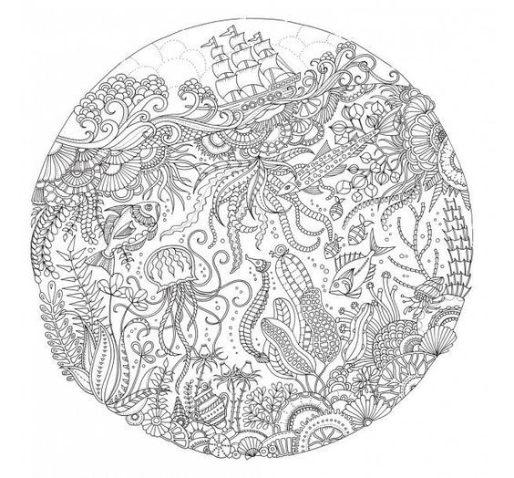 lost ocean coloring pages Lost Ocean by Johanna Basford: | How cool is this? | Coloring  lost ocean coloring pages