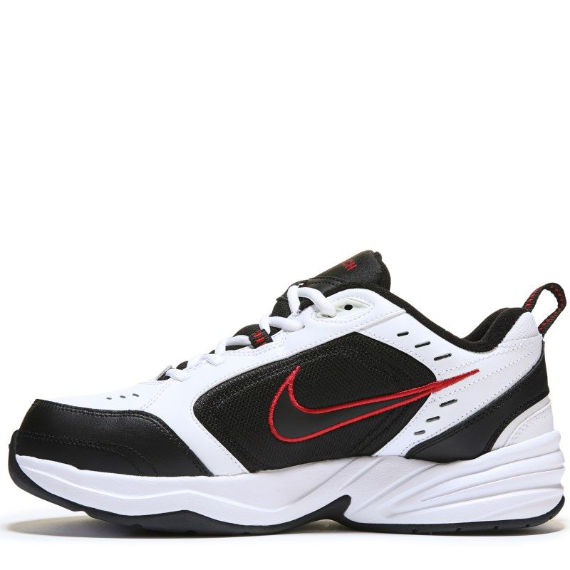 Nike Men's Air Monarch IV Training Shoes (White/Black/Red)