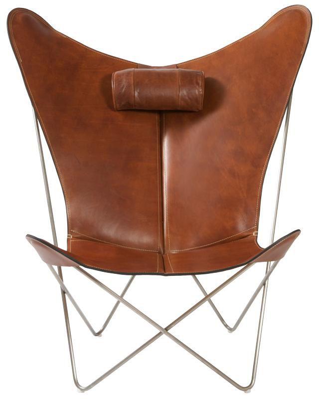 Ein Aussergewöhnlicher Lounge Chair Aus Leder Und Edelstahl. Eher Ein Sessel,  Als Ein Stuhl. Ein Zeitloses Raumobjekt Und Ein Echter Hingucker.