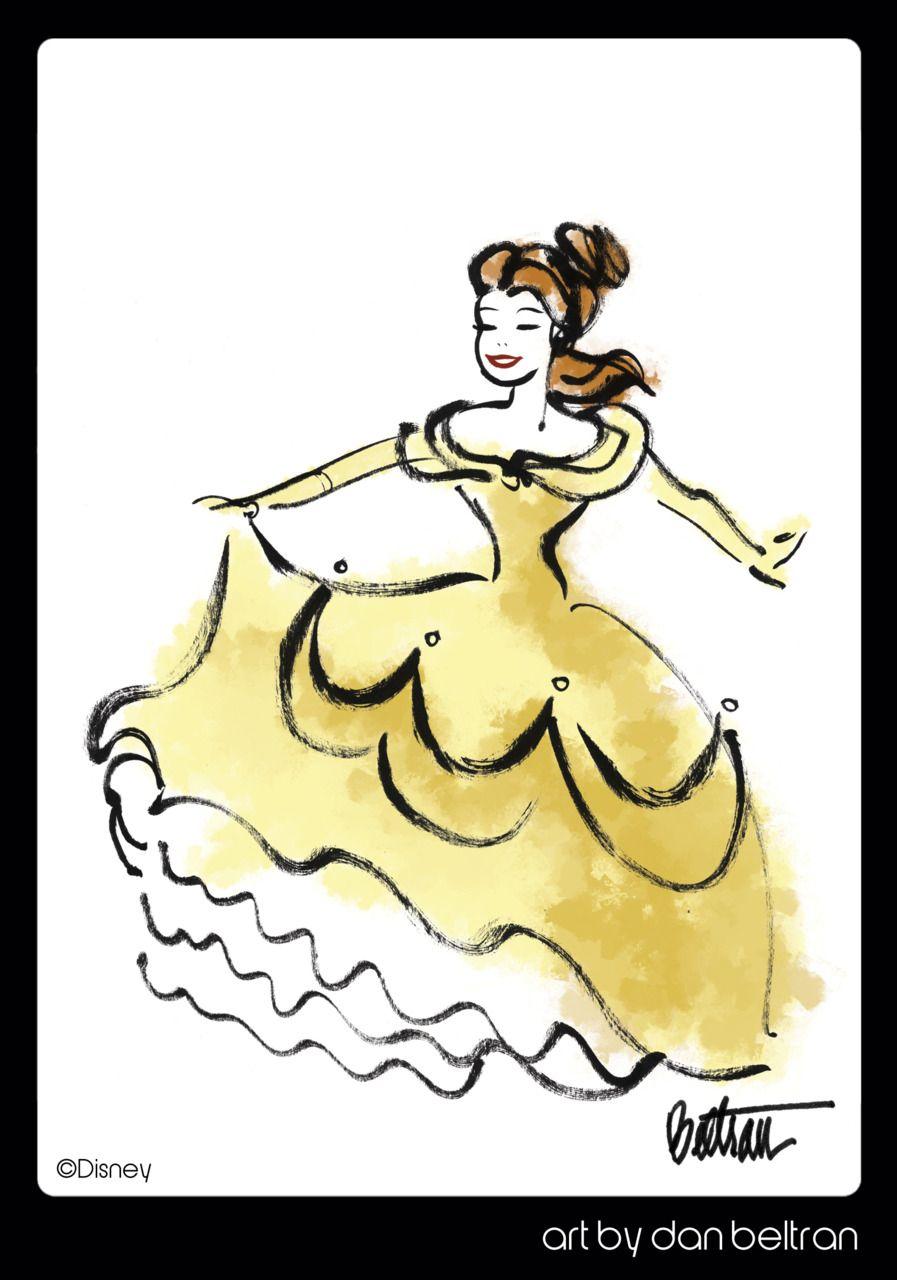Belle by Dan Beltran #Disney