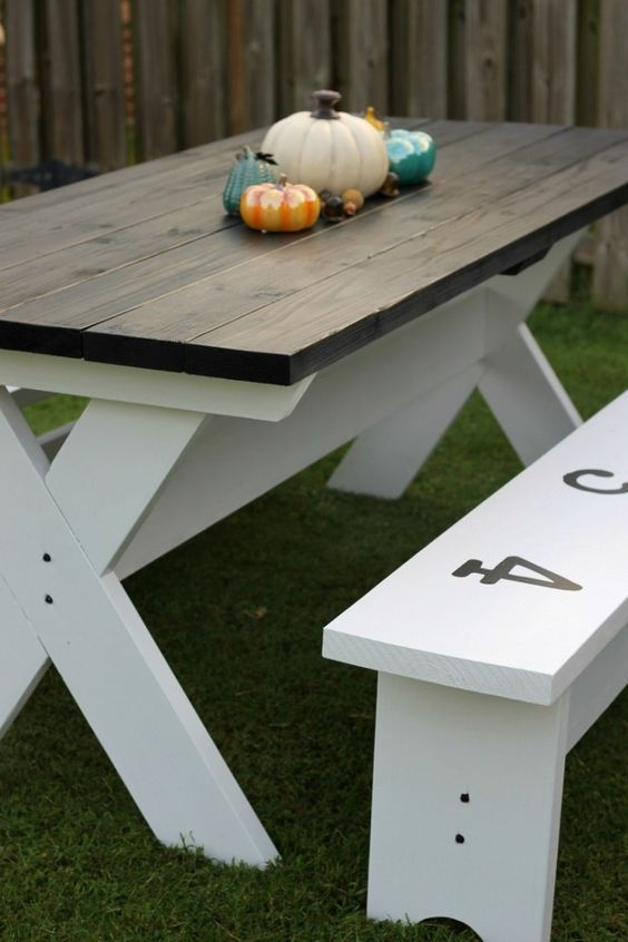 farmhouse picnic table wooden how to build farmhouse picnic table tables picnics and cabin