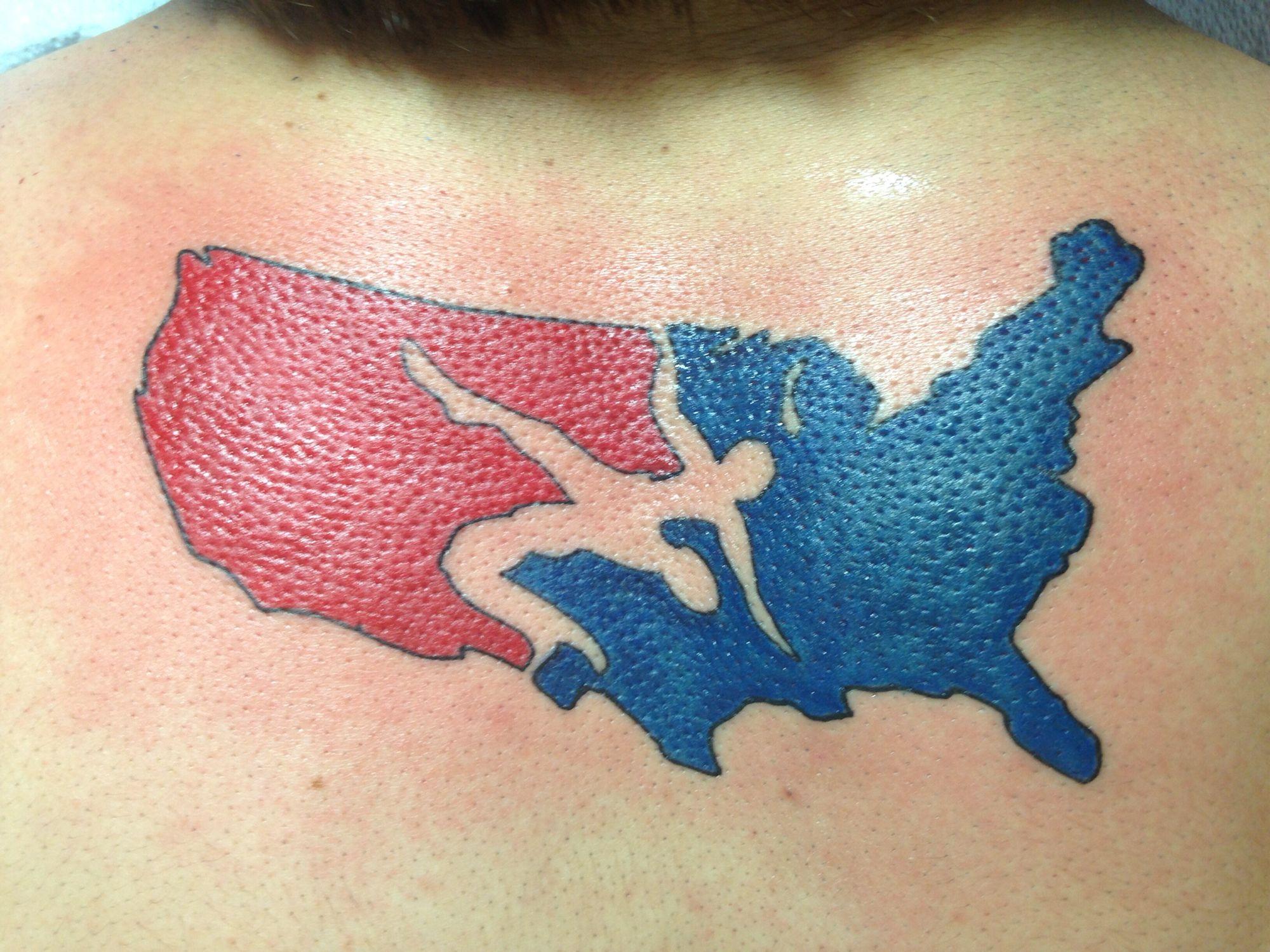 Usa Wrestling Tattoo Wrestling Tattoos Pinterest Tattoo