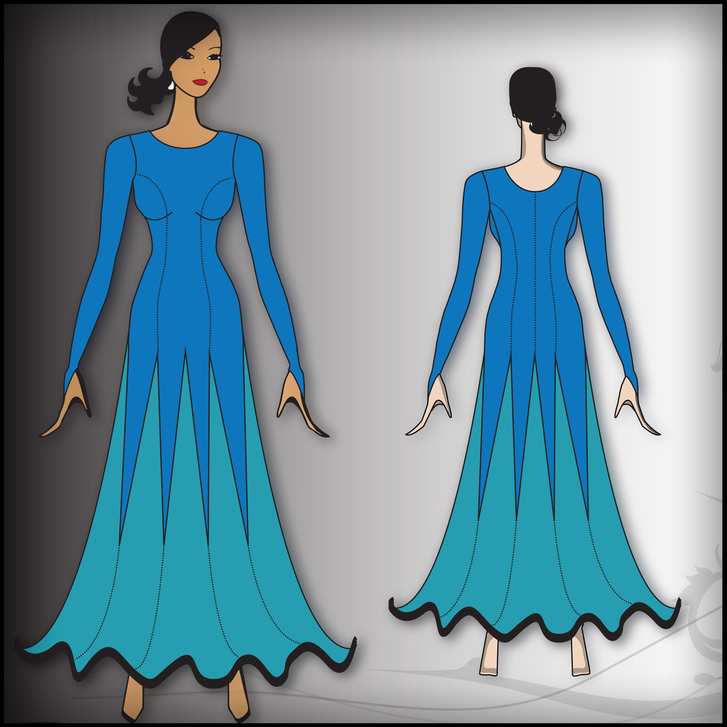 This is my original Halter Style Ballgown Sewing Pattern, but now ...