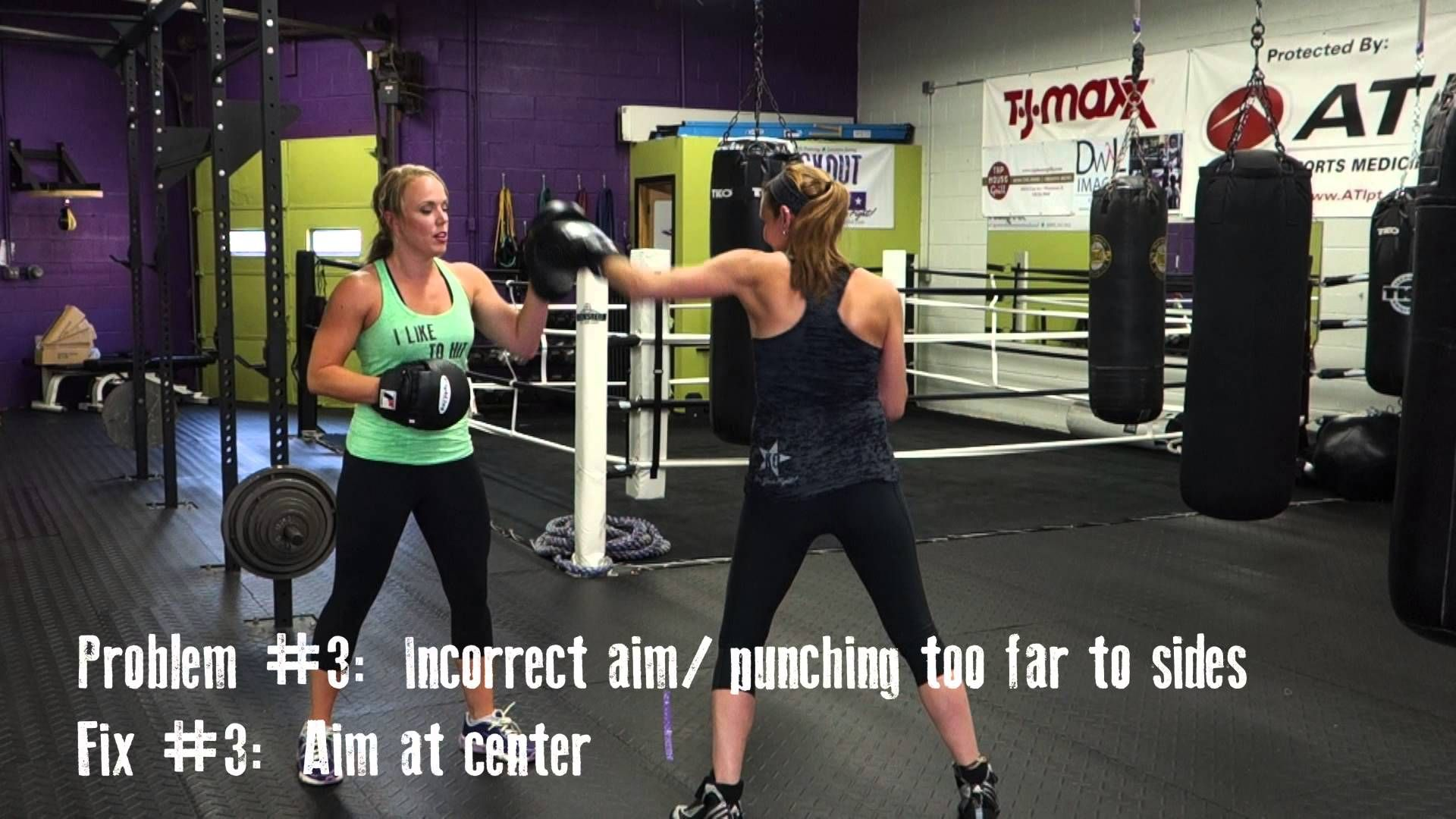 Improve Your Padwork Coach Jess And T Demonstrate Some Common Puncher Mistakes And How To Correct Them Knockout Boxing Club Improve Yourself