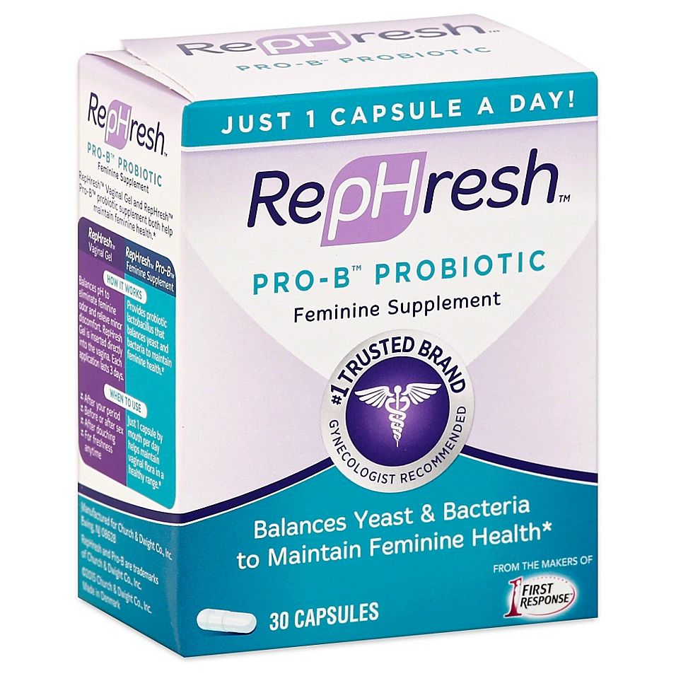 Rephresh Pro B 30 Count Probiotic Feminine Supplement Capsules