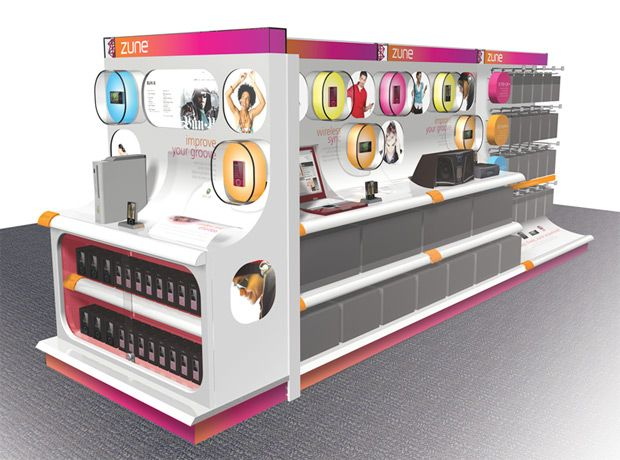 Renders Of Flashier New Zune Retail Displays Retail Display