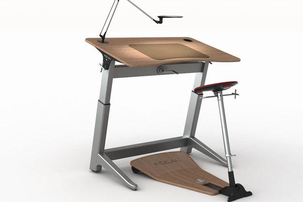 Upright Desk Improves Upon Traditional Standing Desk Designs By Including A  Modified Seat That Leans. I Need This!