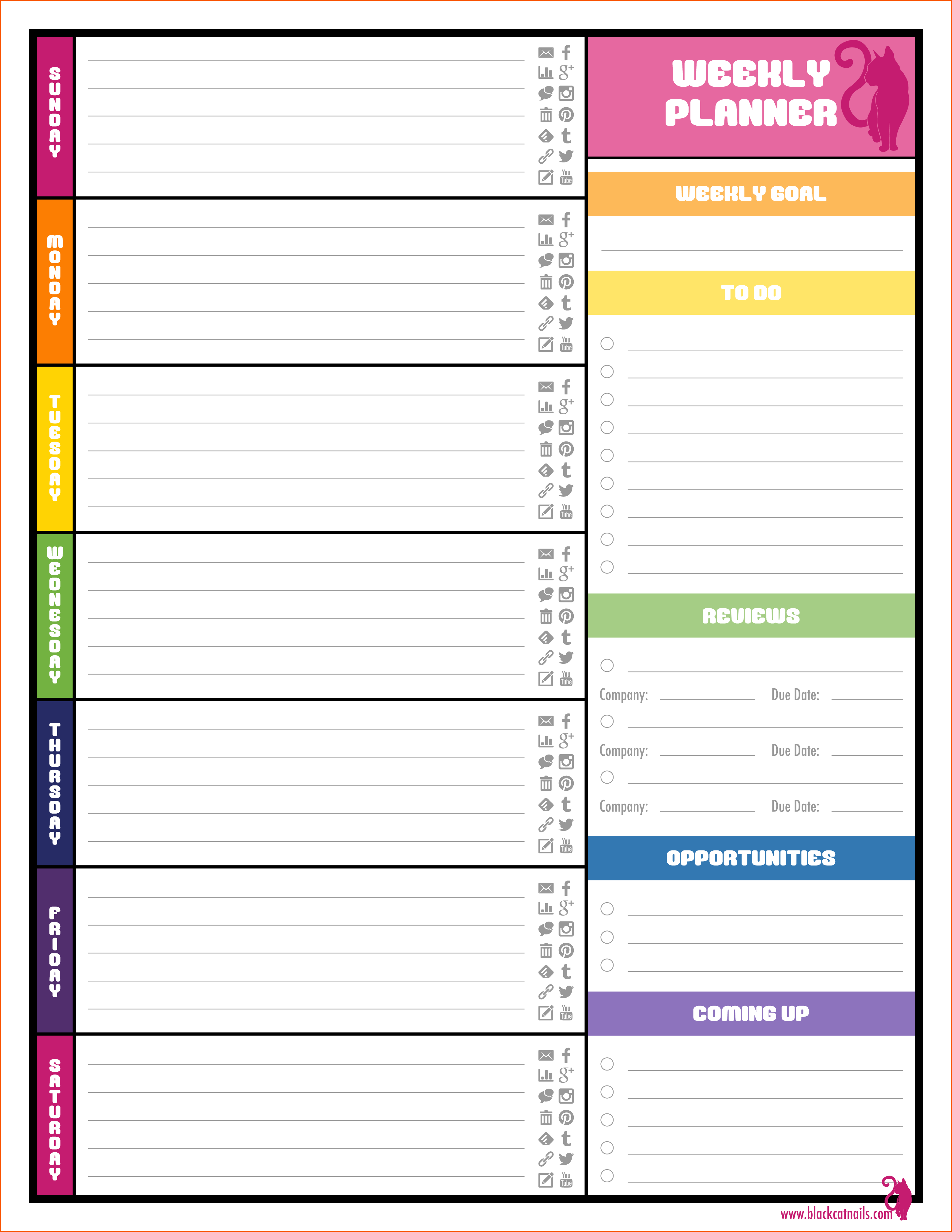weekly planner download