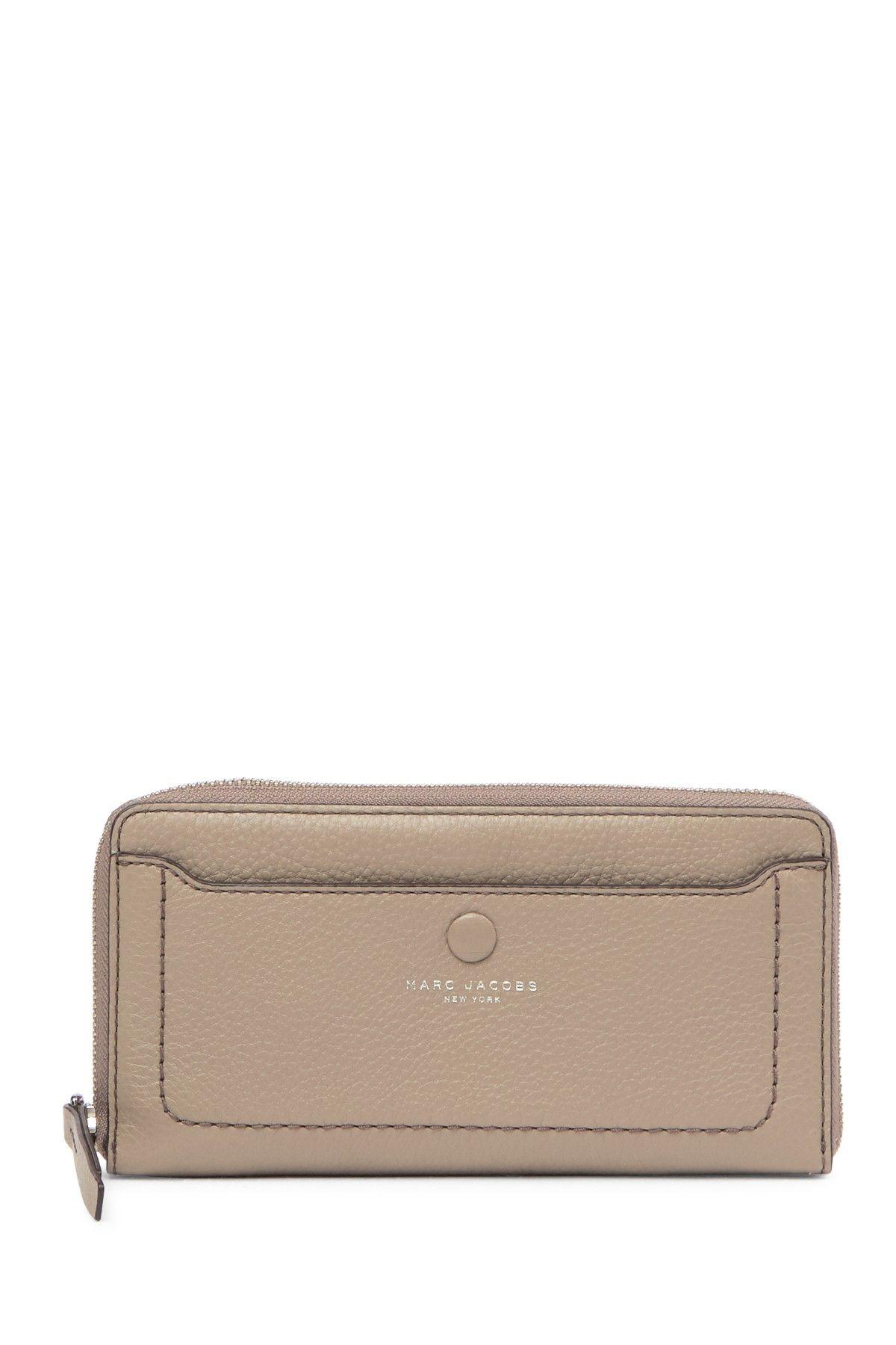 Marc Jacobs | Leather Vertical Zip Around Wallet | Zip