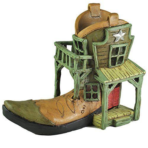Georgetown Home Garden Miniature Cowboy Canteen Fairy House Garden Decor  U003eu003eu003e Read More Reviews