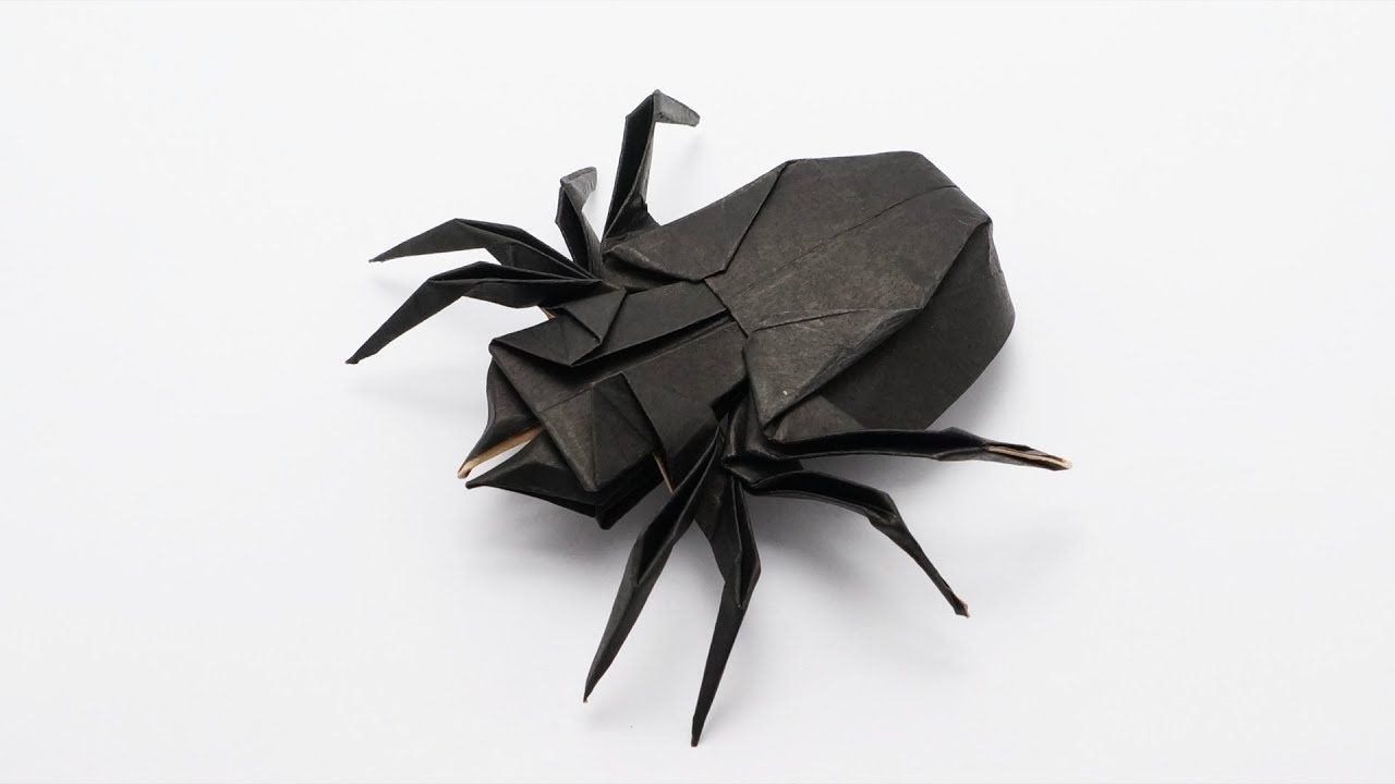 Origami Scorpion tutorial (Robert J. Lang) - Part 1 - YouTube ... | 720x1280