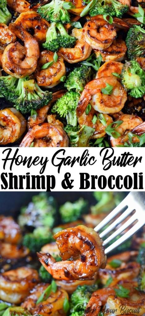 Honey Garlic Butter Shrimp & Broccoli - Butter Your Biscuit