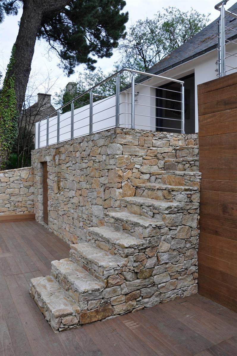 Mur En Pierre Naturelle réhabilitation d'une maison avec de la pierre naturelle