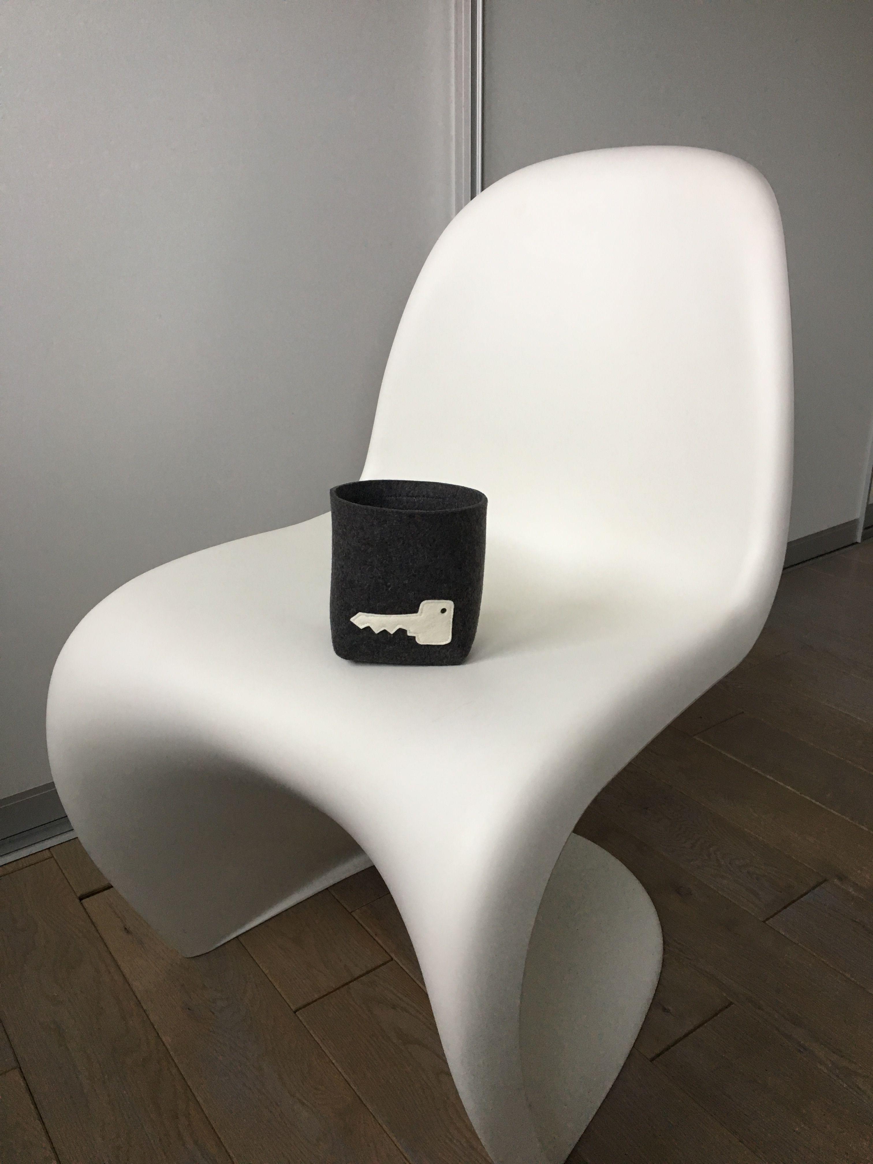 Schlüsselbox aus Filz von wiwa-concept!