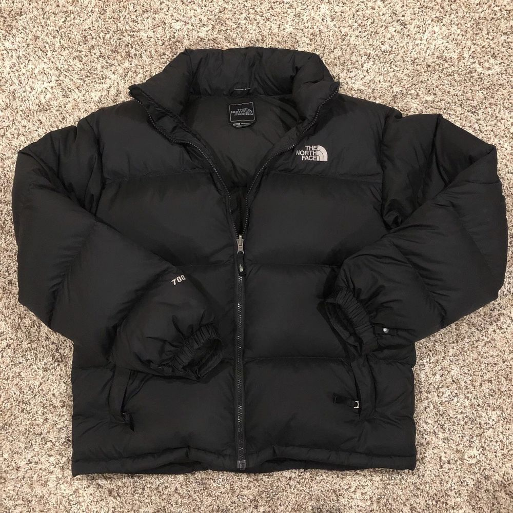 Men S The North Face Black 700 Goose Down Hooded Puffer Jacket Coat Size M Fashion Clothing Shoes A North Face Puffer Jacket Black North Face Coats Jackets [ 1000 x 1000 Pixel ]