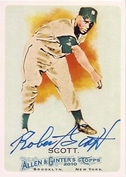 Rare Robert Scott Negro League NY Black Yankees Autographed Hand Signed Card
