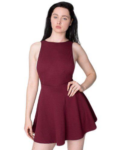 a8cbf7145e677e American Apparel Women s Ponte Sleeveless Skater Dress