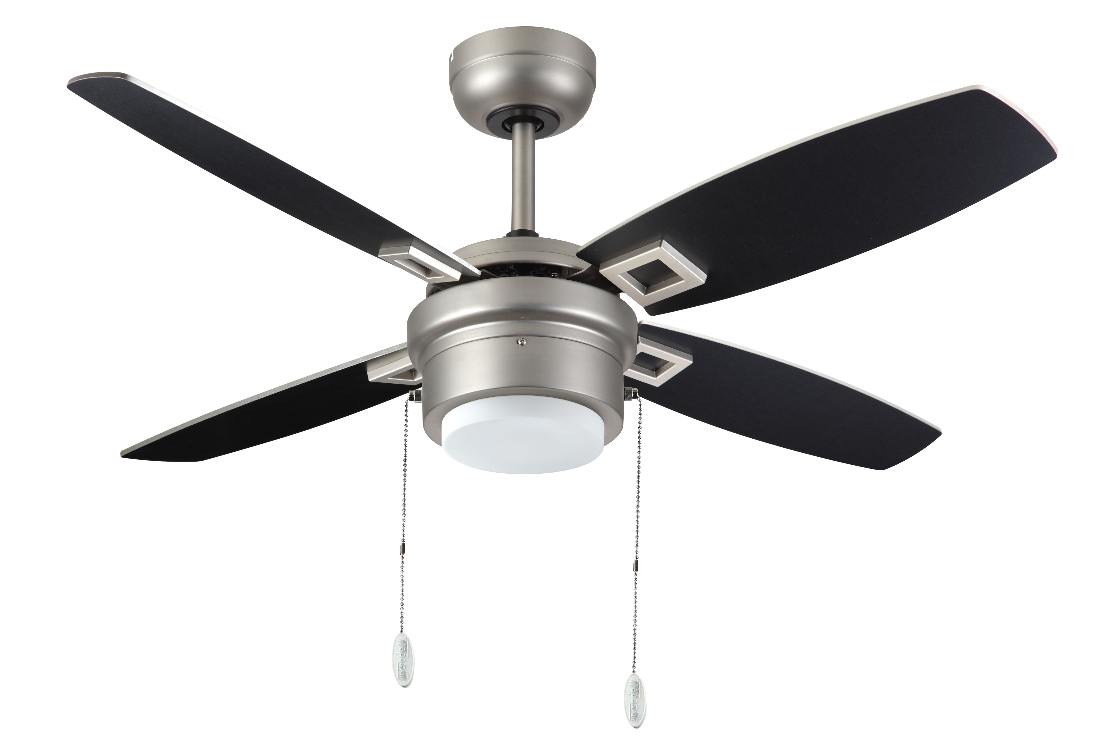 Troposair Sprite 42 Inch Satin Steel Ceiling Fan With Reversible