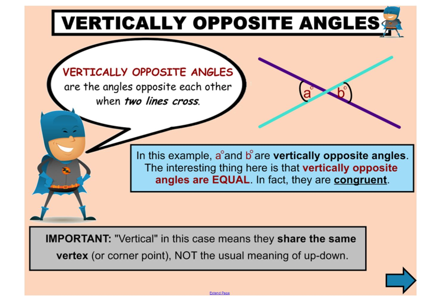 Investigate Vertically Opposite Angles With This Fantastic
