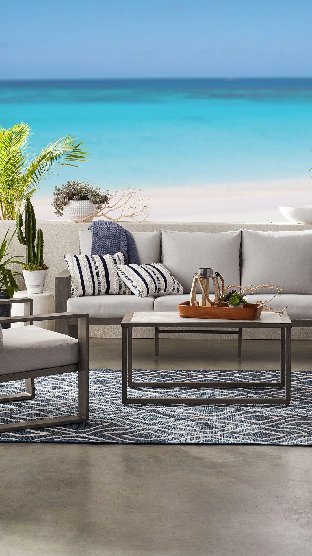 Belle Haven 4 Piece Conversation Outdoor Furniture Set Patio Porch Deck Furniture Sof In 2020 Outdoor Furniture Collections Outdoor Furniture Sets Outdoor Living