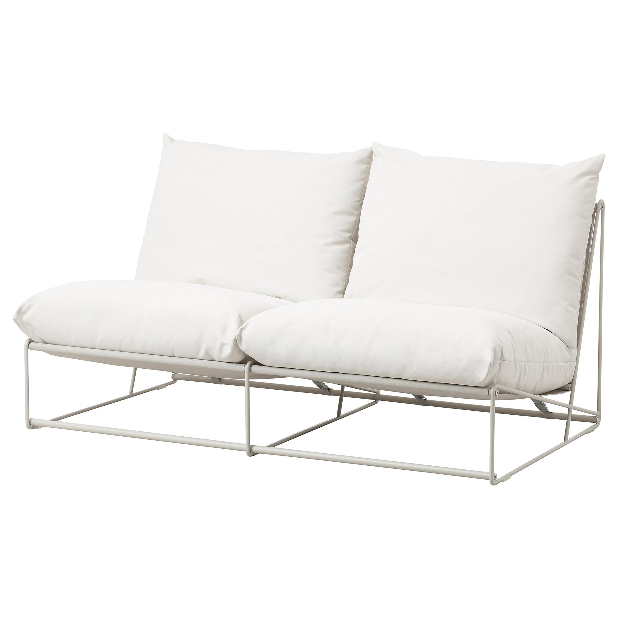 Havsten 2 Zitsbank Binnen Buiten Zonder Armleuningen Met Open Eind Beige Ikea 2er Sofa Kleines Sofa Kissen Sofa