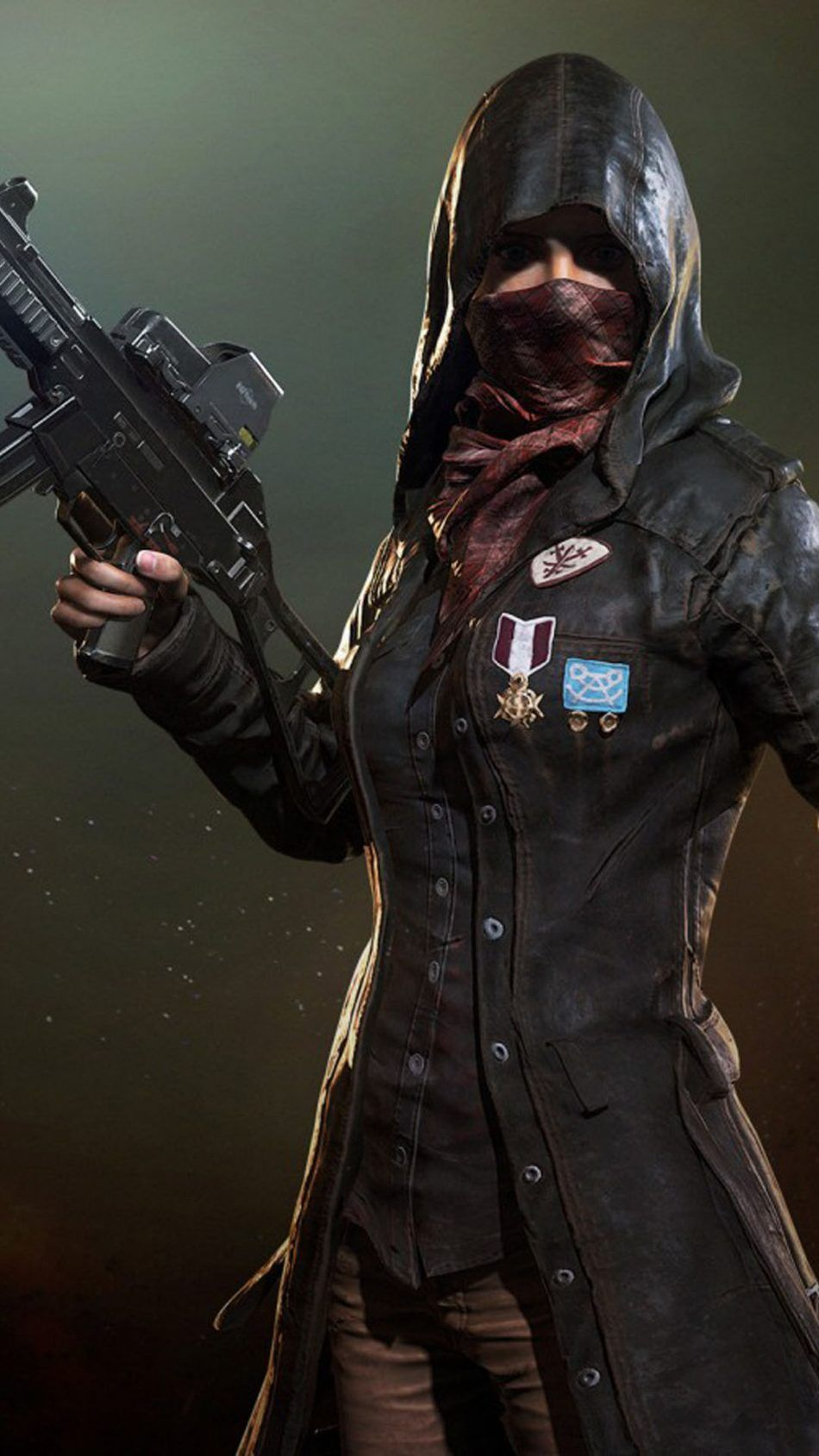 PUBG Female Player In Mask Blue wallpaper iphone, Game