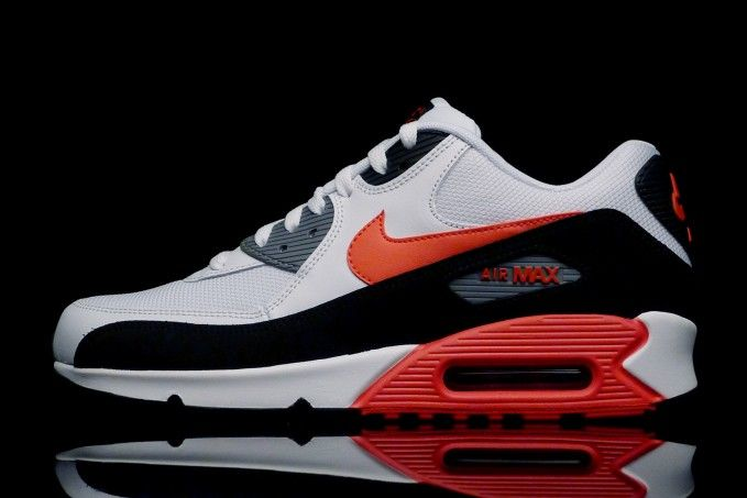 new style 291de 81a4e new zealand air max 90 white black cool grey challenge red 48165 6e612