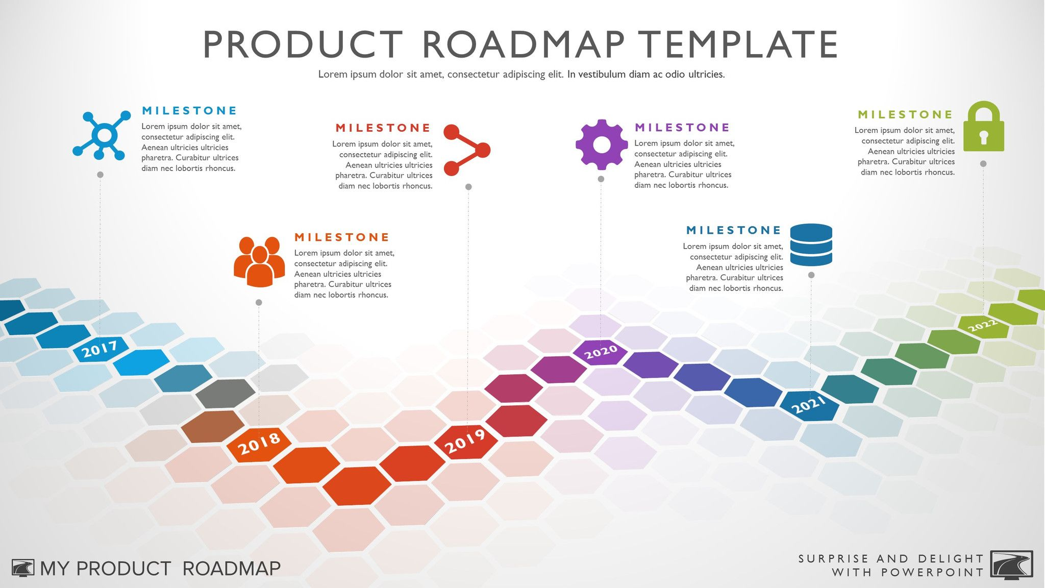 Six Phase Software Timeline Roadmap Powerpoint Template Product - Roadmap timeline template
