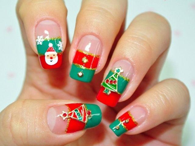diseños de uñas navideñas 2018