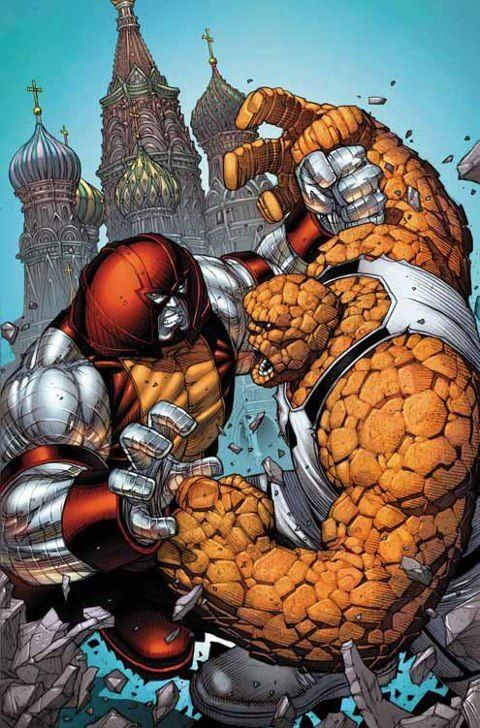 The Unstoppable Colossus vs The Thing   Marvel comics art ...