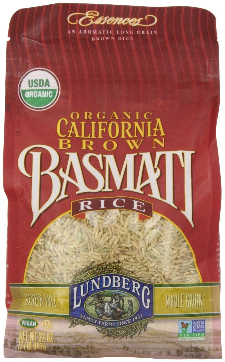 LUNDBERG Organic California Brown Basmati Rice, 2 lb