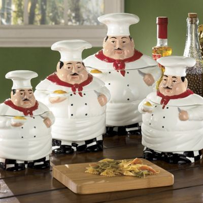 4 Piece Ceramic Chefs Canister Set